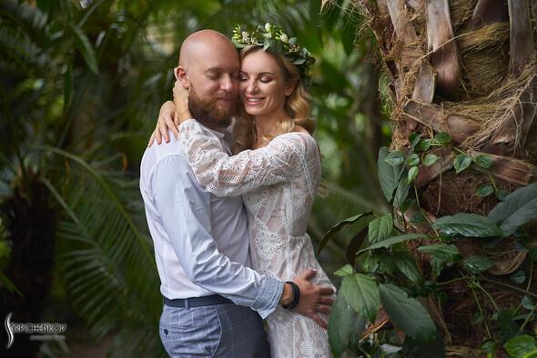 Свадебные фото в Оранжерее в Киеве, студийная сьемка в фотостудии Счастье - фото №16