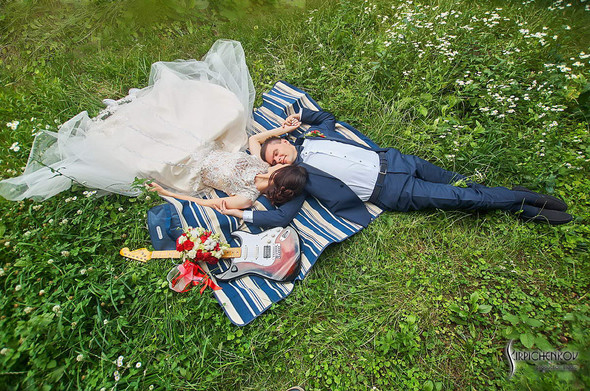 Свадьба на природе возле частного дома с выездной церемонией - фото №69