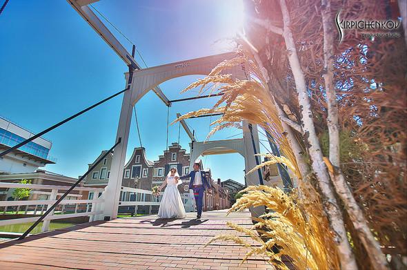 Свадебные фото на Мануфактуре и выездная церемония в ресторане Kidev - фото №37