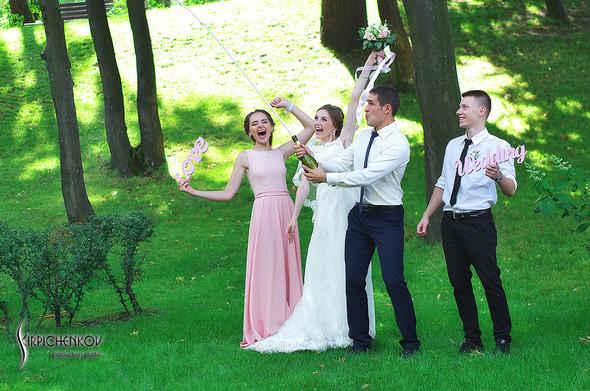 Свадебные фото в каньоне Буки и выездная церемония в ресторане Фортеця - фото №72