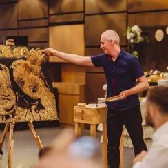 Рисование светом, песочное шоу, золотые портреты - артист, шоу в Киеве - фото 4
