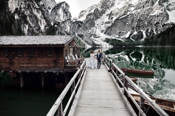 Свадьба Александры и Норика на озере Браес - фото №2