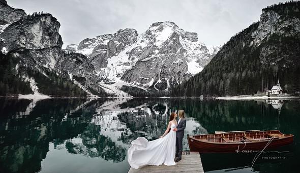Свадьба Александры и Норика на озере Браес - фото №26
