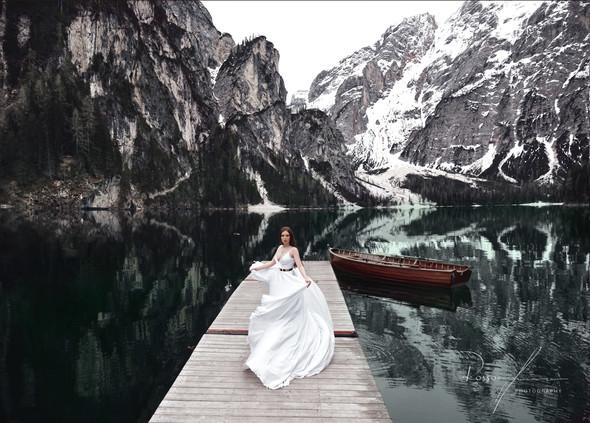 Свадьба Александры и Норика на озере Браес - фото №12