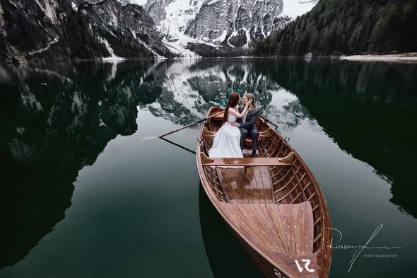 Свадьба Александры и Норика на озере Браес - фото №19