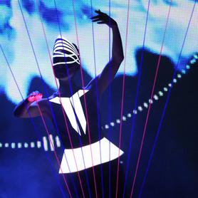 шоу лазерной арфы «novaЯ» / лазер шоу