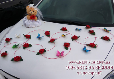 Украшения на свадебные авто - фото 3