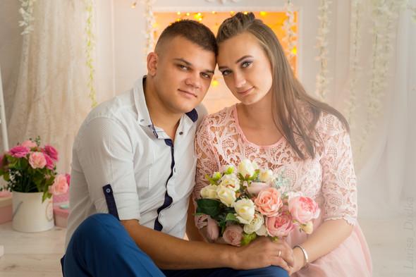 Свадебная фотосессия в студии - фото №3