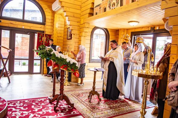 Венчание в храме Георгия Победоносца - фото №2