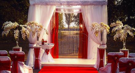 Украшение зала в Кременчуге. Декор выездной с шатром.