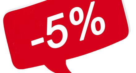 Скидка -5% на все виды услуг!