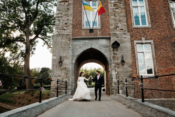 Классическая свадьба в замке. Брюссель, Бельгия - фото №14