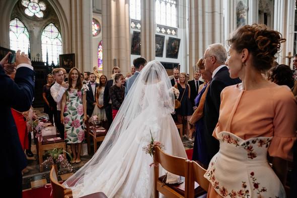 Классическая свадьба в замке. Брюссель, Бельгия - фото №20