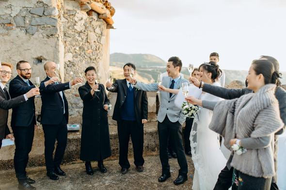 Позитивная семейная свадьба в Италии - фото №81