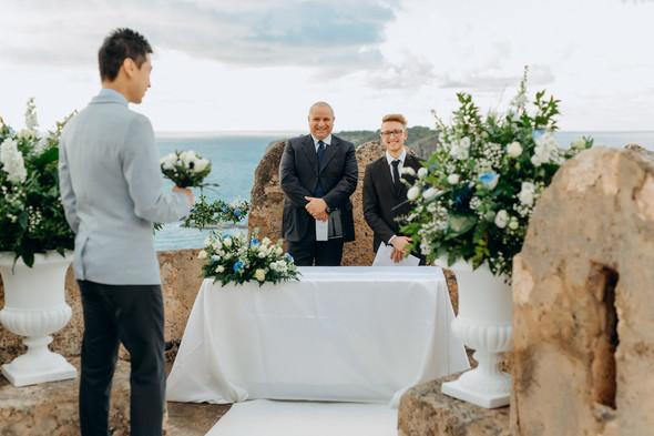 Позитивная семейная свадьба в Италии - фото №60