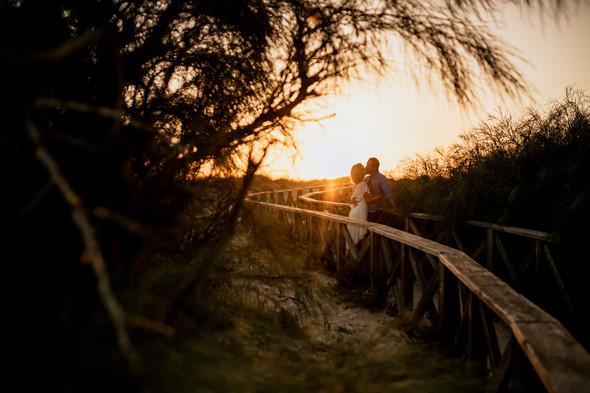 Пляжная послесвадебная съемка и Испании - фото №50