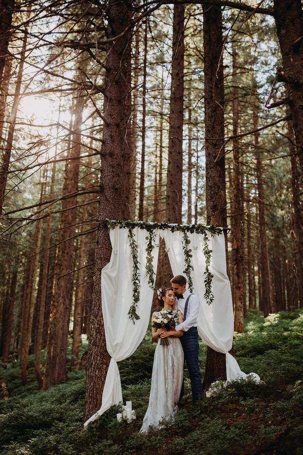 Лесная свадьба в Карпатах - фото №9