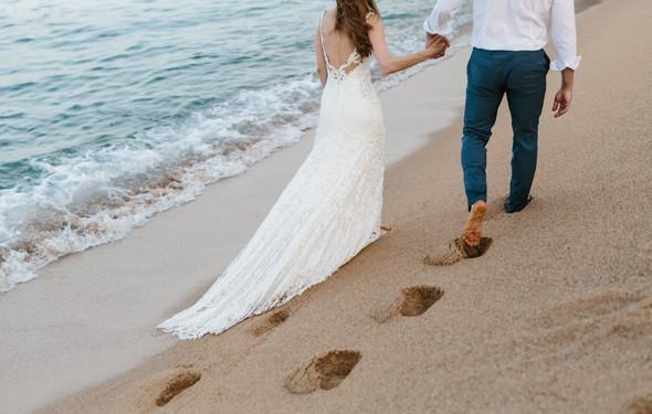 Красивая испанская свадьба на побережье - фото №91