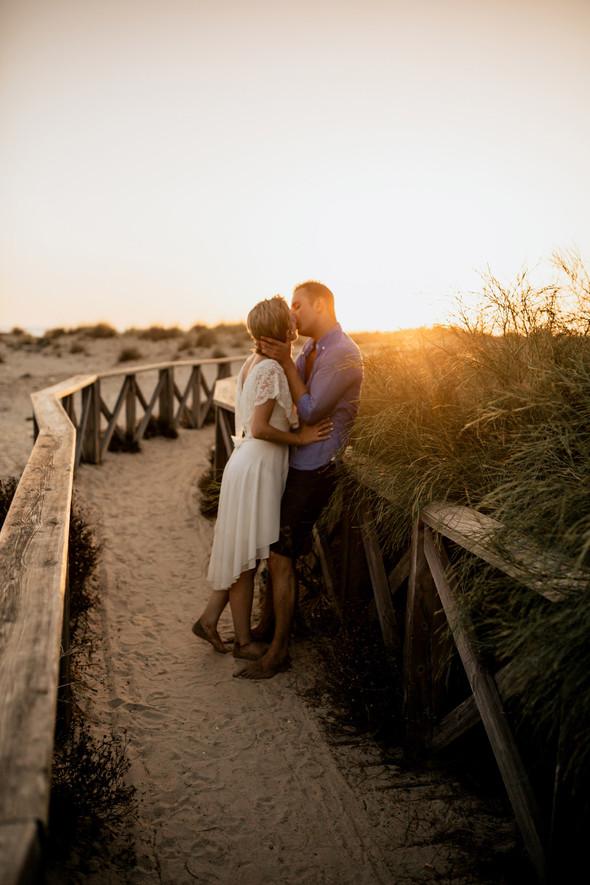 Пляжная послесвадебная съемка и Испании - фото №51