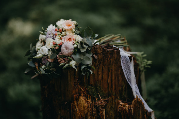 Лесная свадьба в Карпатах - фото №6