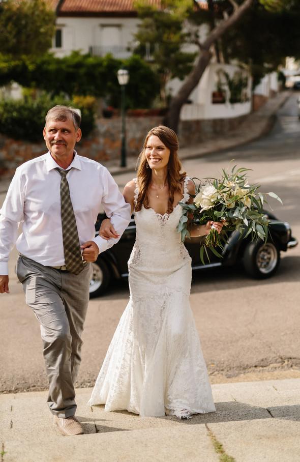 Красивая испанская свадьба на побережье - фото №40