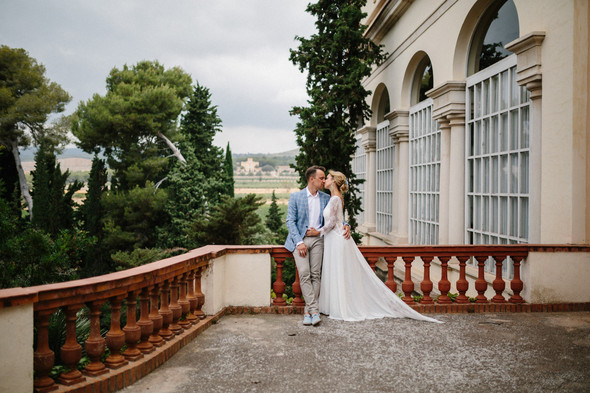 Испанская семейная свадьба на вилле недалеко от Барселоны - фото №52