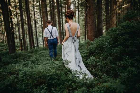 Лесная свадьба в Карпатах - фото №19