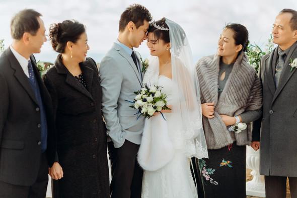 Позитивная семейная свадьба в Италии - фото №82