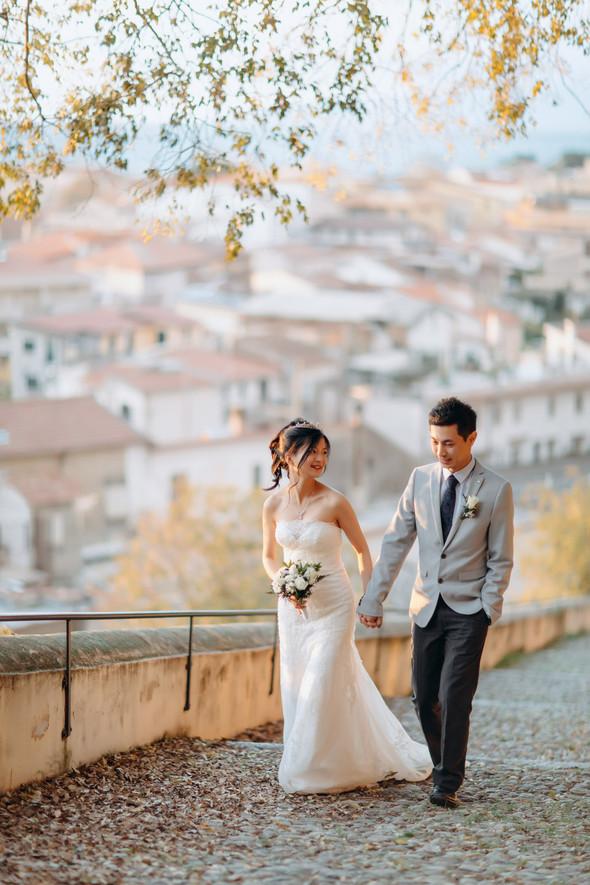 Позитивная семейная свадьба в Италии - фото №100
