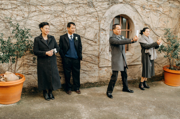 Позитивная семейная свадьба в Италии - фото №97