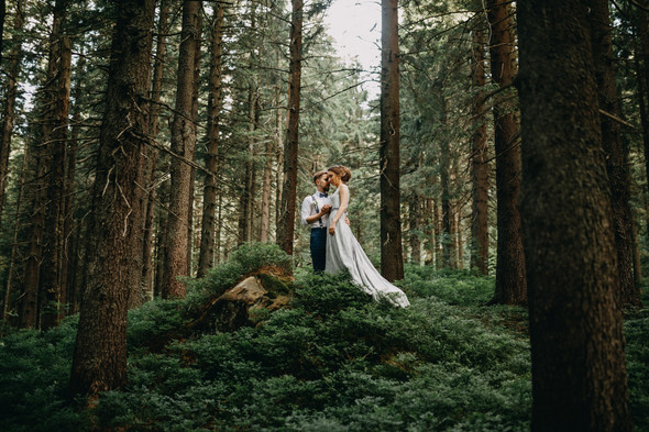 Лесная свадьба в Карпатах - фото №30