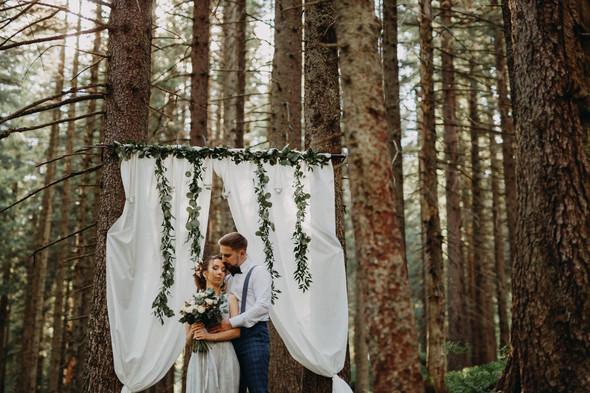 Лесная свадьба в Карпатах - фото №12