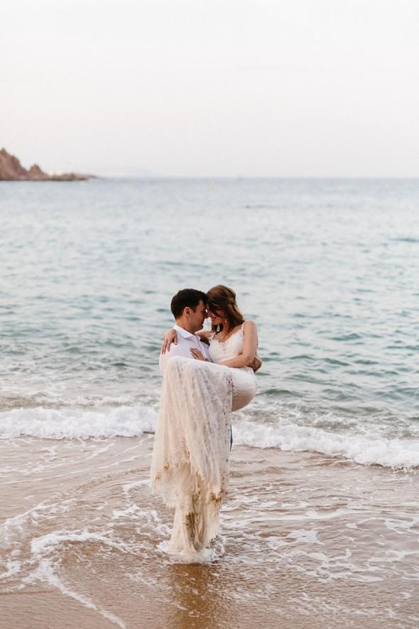 Красивая испанская свадьба на побережье - фото №88