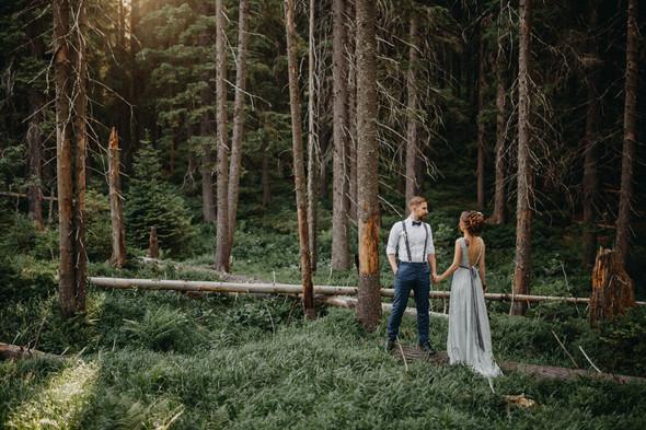 Лесная свадьба в Карпатах - фото №44