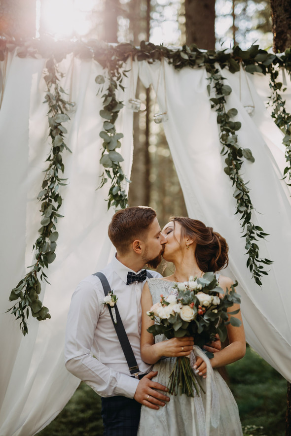 Лесная свадьба в Карпатах - фото №11