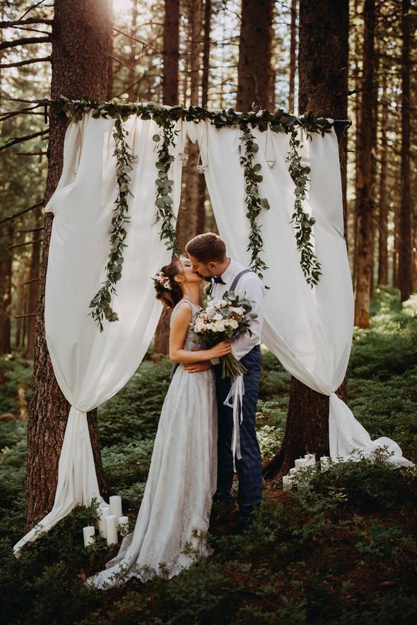 Лесная свадьба в Карпатах - фото №10