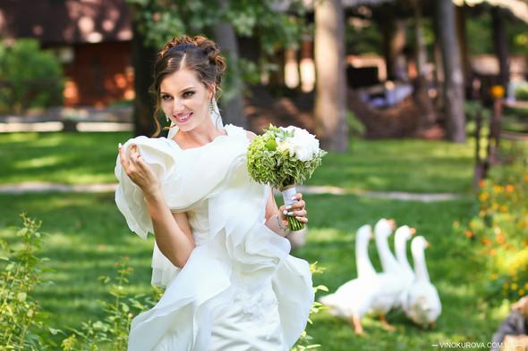Свадьба Марины и Антона в стиле рустик - фото №32
