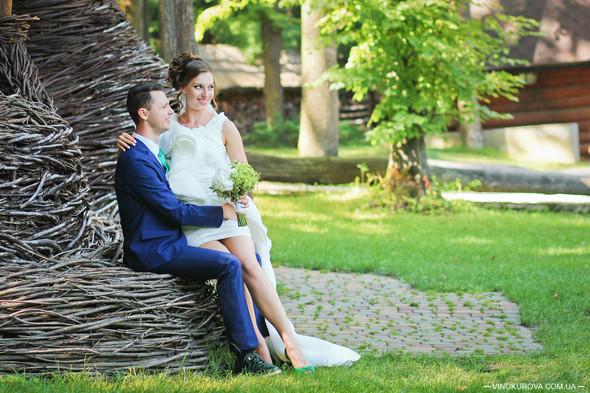 Свадьба Марины и Антона в стиле рустик - фото №33