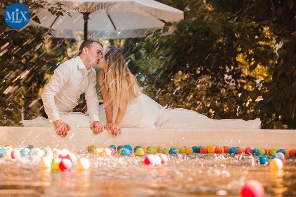 Свадебный рассвет у моря - фото №8