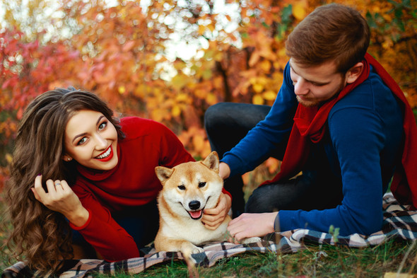 Семейная прогулка Ильи, Любы и Ланселота. - фото №6