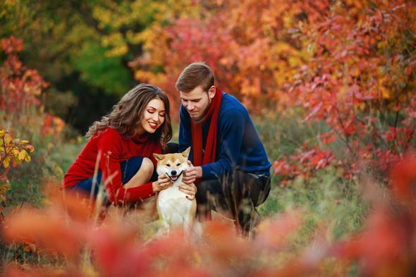 Семейная прогулка Ильи, Любы и Ланселота. - фото №2