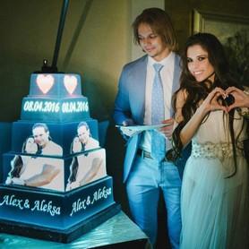 3D-Торт Проекционное шоу Торт на свадьбу